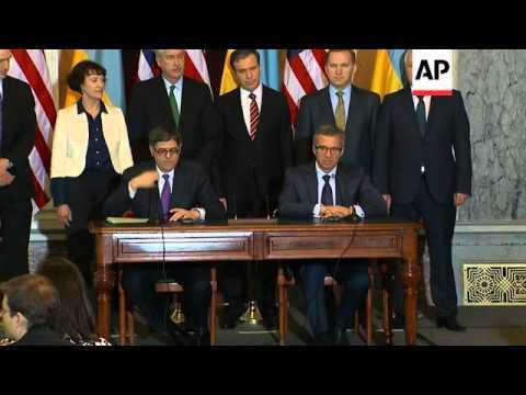 US treasury secretary meets Ukrainian finance minister, sign $1B dollar loan