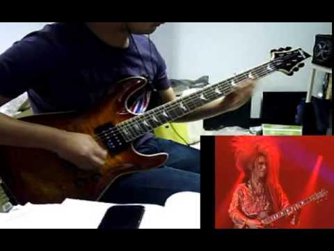 X-Japan Kurenai - Guitar cover - live in concert