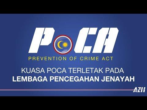Kuasa POCA terletak pada Lembaga Pencegahan Jenayah