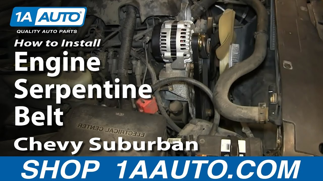hight resolution of how to replace serpentine belt 00 06 chevy suburban