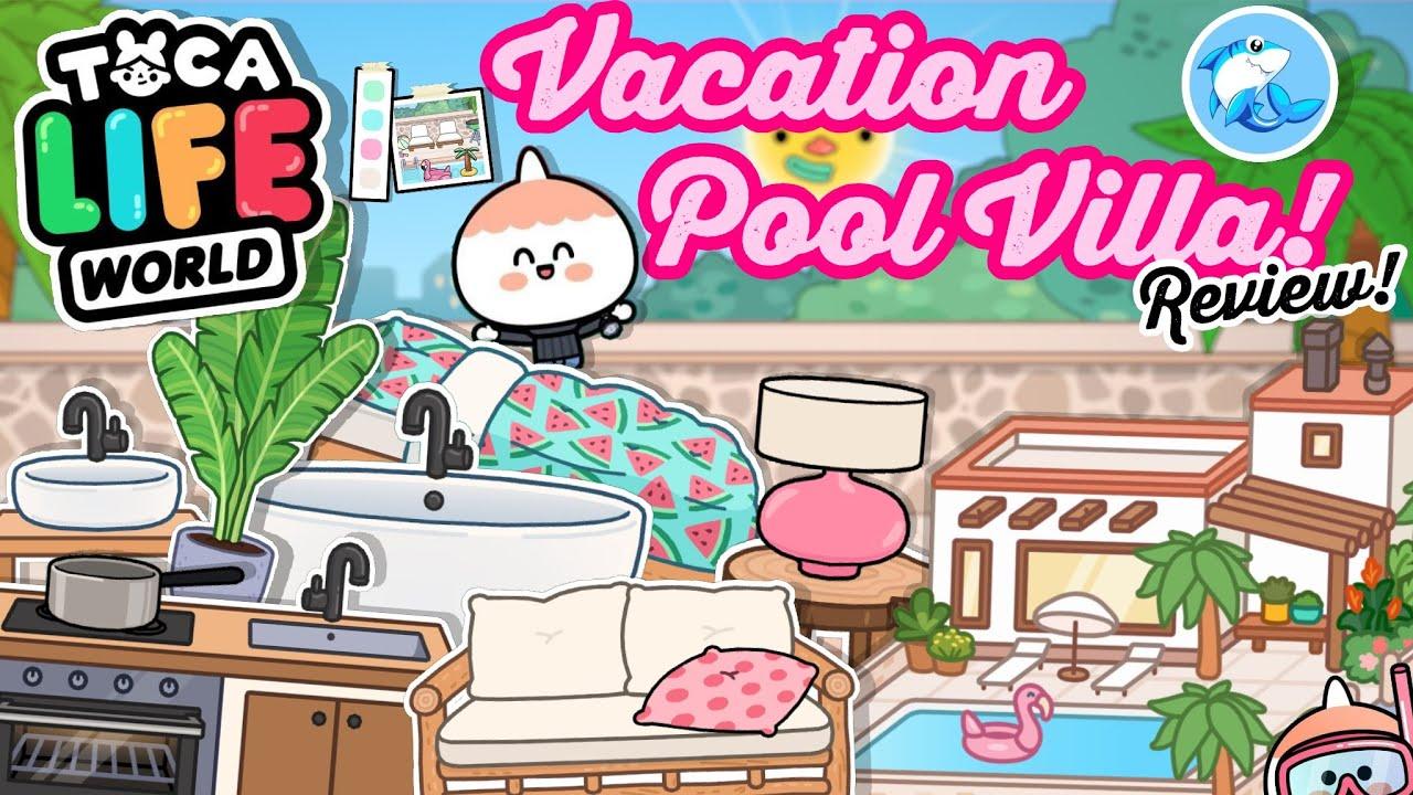 Toca Life World Home Designer   Vacation Pool Villa Review!!