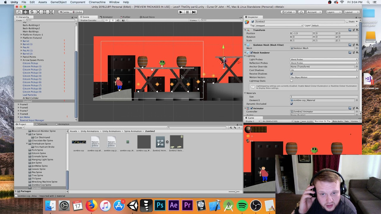 Lets Make A Game! Game Dev Episode #3 Importing Spine