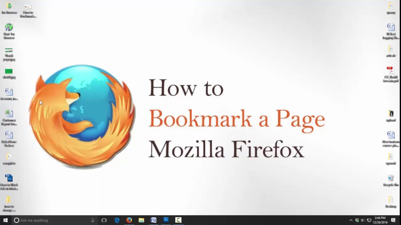 How to Bookmark a Page in Mozilla Firefox - bookmarks toolbar