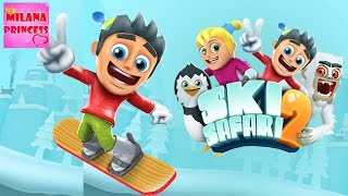 Играем в Игр:у Sky Safari 2 катаемся на горках, прикольная игра   Ski Safari 2 Gameplay