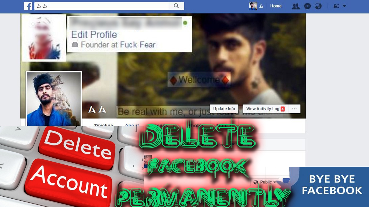 How to delete facebook account permanently forever easy in 2 how to delete facebook account permanently forever easy in 2 min on any platform ccuart Choice Image