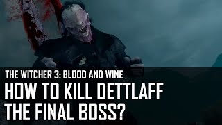 Witcher 3: Blood and Wine - How to kill Dettlaff final boss?
