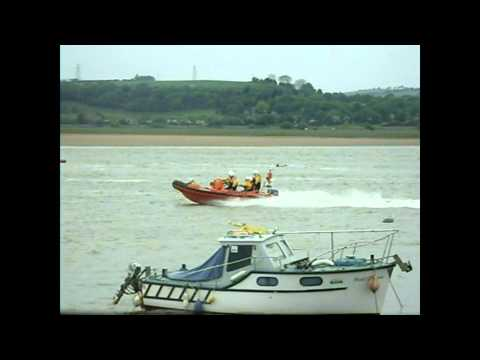 Kayaker rescued river loughor, inshore Fun day