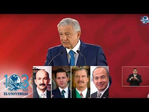 Arremete AMLO contra ex presidentes por corrupción