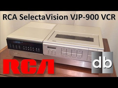 RCA SelectaVision VJP-900 VCR | Intro from 1983 and Tear-down