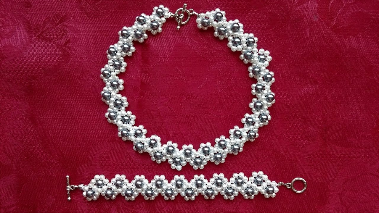 Diy Pearl Jewelry Set Jewely Beading Pattern Ideas For