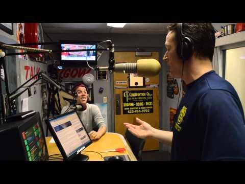 Steve-O visits Live & Local with Brian Joyce on Talk Radio 102.3 FM