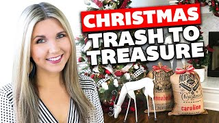 Christmas Trash to Treasure 🎄 Christmas Thrift Store Makeover 2019 🎄 Home Decor Ideas
