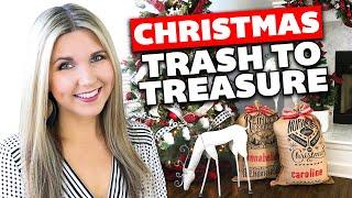 Christmas Trash To Treasure 🎄 Christmas Thrift Store Makeover 2019 🎄 Home Decor Ideas
