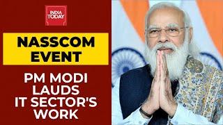 PM Modi Lauds IT Sector's Work During Pandemic | NASSCOM's Technology & Leadership Forum Event screenshot 1