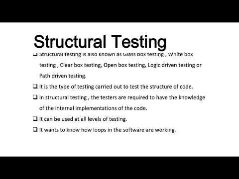 What is Structural Testing its categories,advantages,disadvantages in Software testing(NCS-071)