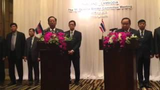 Thailand and Cambodia news conference on March 24, 2016