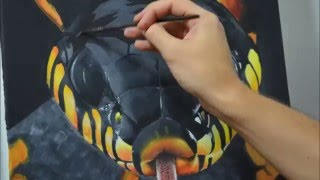 Realistic snake painting - Time lapse