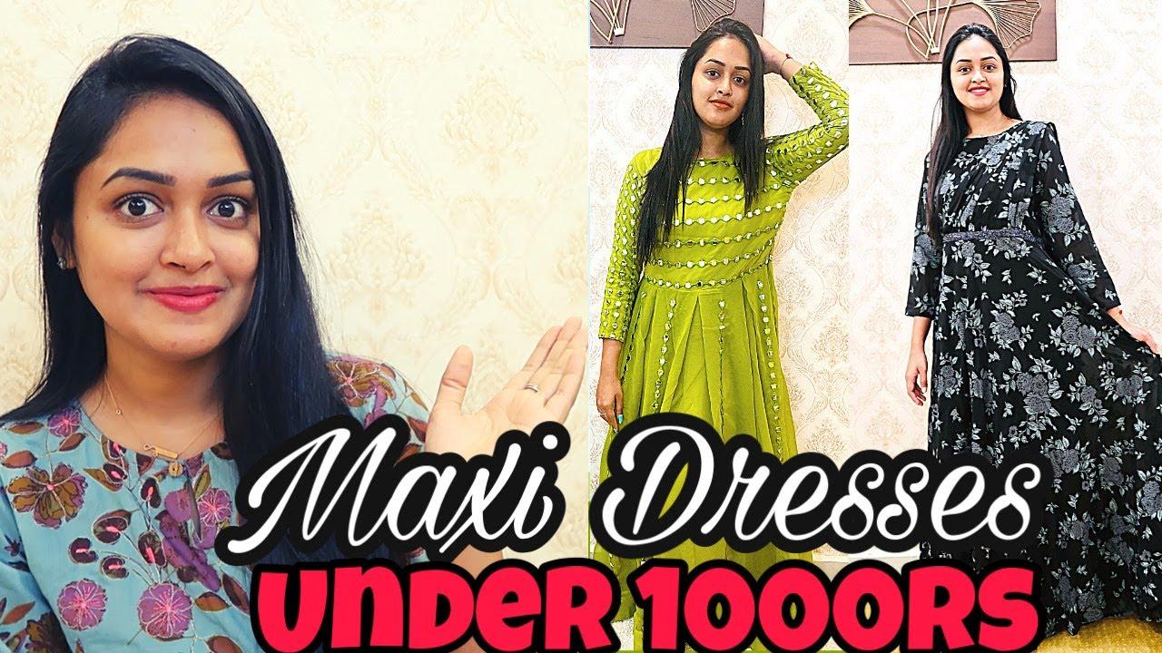 ఇది చూస్తే shock అవుతారు || Meesho frocks under 1000/ || MAXI DRESSES UNDER 1000RS