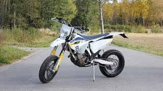 husqvarna fe 450 motard fmf going fast   pure sound