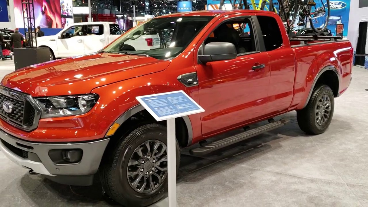 all new 2019 ford ranger supercab xlt sport hot pepper red walk around 2019 chicago auto show