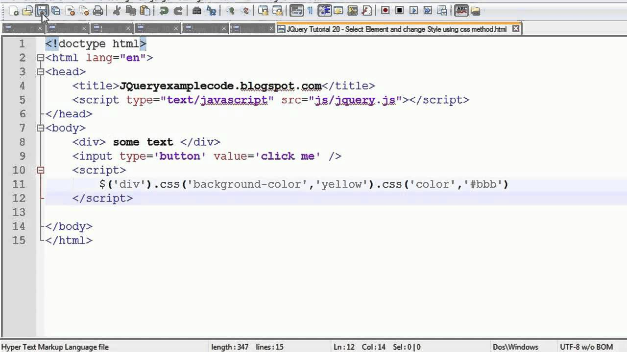 How To Change Background Color Of Element In Jquery ...