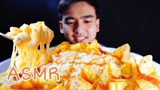 ASMR MAC AND CHEESE WITH TORTILLA SNACK - Laper Kuy
