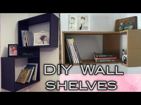 DIY Wall Shelves |Book Shelves |Hasil Tv