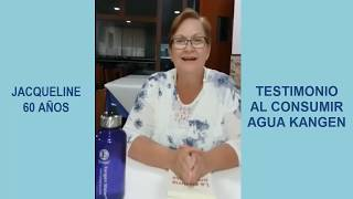 Testimonio Agua Kangen sobre Fibromialgia - Jacqueline 60 años