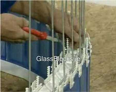 How to Build a Curved Wall Using Glass Blocks - Method 1