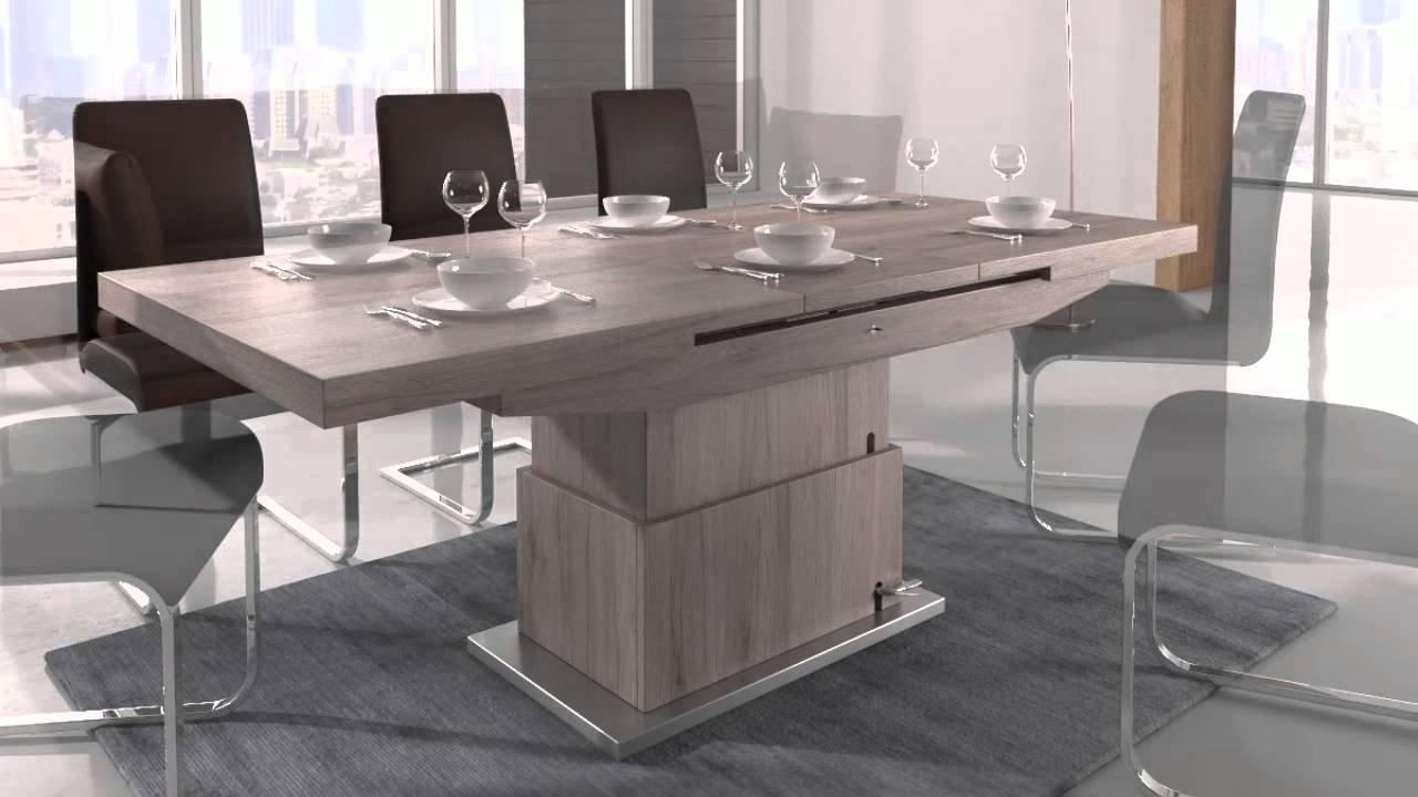 Convert Dining Table To Desk Part - 19: Elgin Coffee that also converts to a Dining table - YouTube