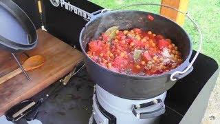 Kochen mit dem EcoZoom Versa Raketenofen - Chorizo Eintopf