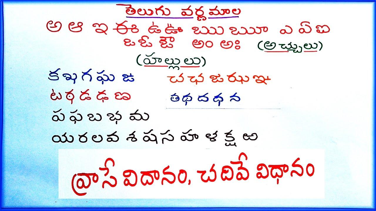 Telugu Aksharamala Pdf
