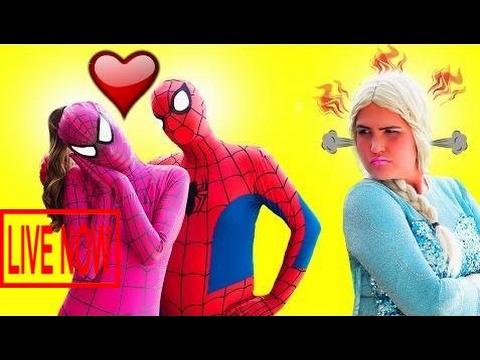 Pink Spidergirl Uses Love Arrows On Spiderman Vs Elsa Fun Superhero Kids In Real Life In 4K #AHG