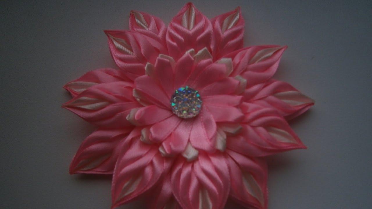 Цветы из узких лент своими руками для начинающих