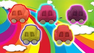 PlayDough Cars Surprise Toys Learn Colors with Minion Donald Duck Hello Kitty Paw Patrol Doraemon