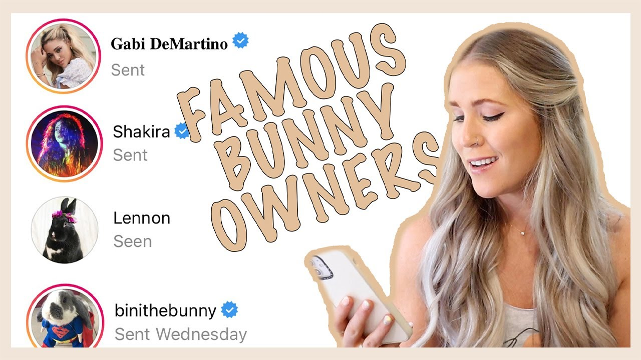DMing FAMOUS BUNNY OWNERS To Shop For Me