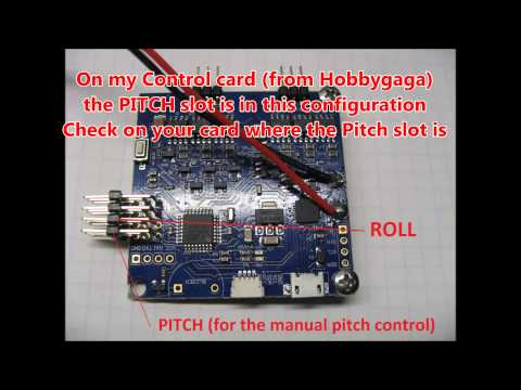 How to connect Gimbal tilt - manual Pitch Control on Naza-goodluckbuy-hobbygaga-goodbuylucky
