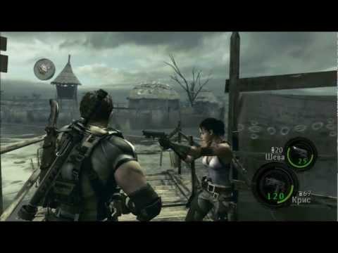 Смотреть прохождение игры [Coop] Resident Evil 5 - Серия 7: Стычка с дикарями...