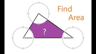 Area of the shaded region | Tricky Area problem | Difficult |