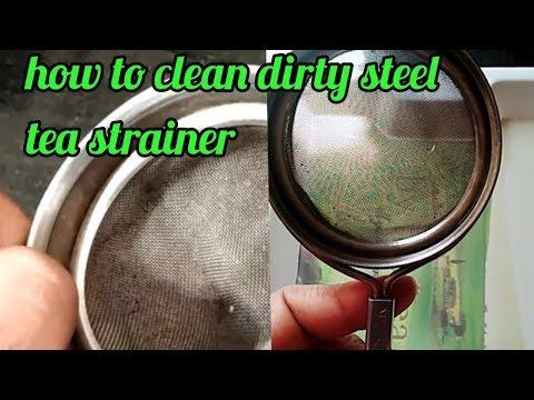 How to clean dirty steel tea strainer  dirty tea steel tea strainer को चुटकियों में चमकाएं