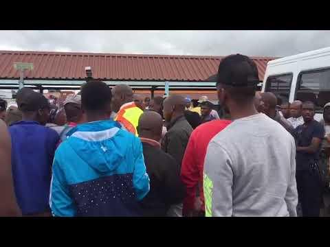 MEC for Transport, Community Safety & Liaison Mr Mxolisi Kaunda at Ladysmith taxi rank