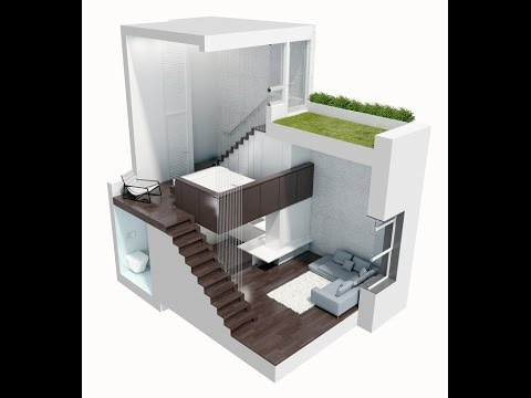 Dise o de mini departamento moderno youtube for Modelos de mini apartamentos