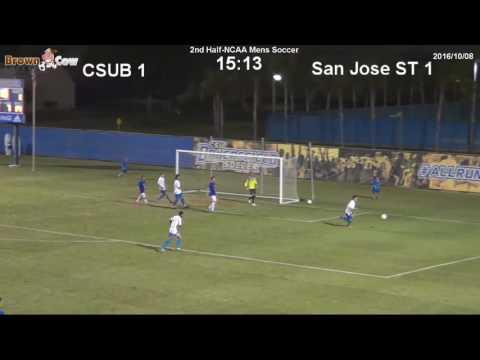 20161008 NCAA Mens Soccer   CSU Bakersfield v San Jose State Highlights