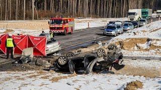 Śmiertelny wypadek na S8 - Dybki (25.02.2017)