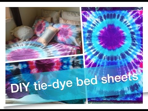 How To DIY: Tie Dye Bed Sheets U0026 Pillowcases!!   YouTube