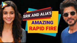 SRK | Alia Bhatt's UNFORGETTABLE Rapid Fire On Dear Zindagi | Sidharth Malhotra | Varun Dhawan