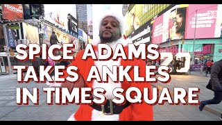 Spice Adams Dressed As Santa And Challenge New Yorkers To Steal The Ball From Him For Gifts