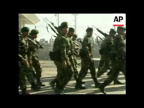 EAST TIMOR: DILI: HANDOVER OF POWER TO AUSTRALIA TROOPS