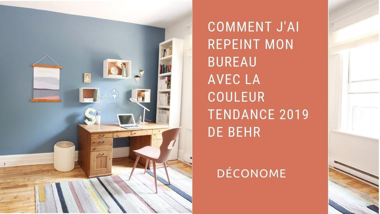 Couleur Tendance Pour Interieur Maison mon bureau transformé avec la couleur impression bleue