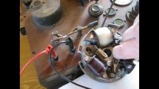 Oldtimer-Motor Sachs 98 - M 32 - Zündungs-Test auf original PRÜFREX